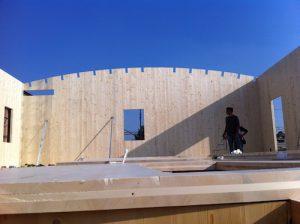 Costruzione casa in legno Biolam Italia