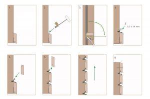 Sistema di montaggio invisibile per facciate in legno