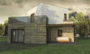 Casa Kubica di BiHolz - Linea a telaio Platform-Frame di Biolam Italia