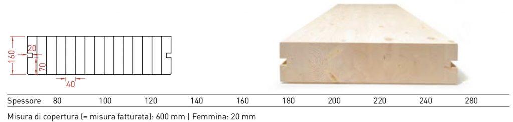 Solaio lamellare per solaio con scanalatura di giunzione